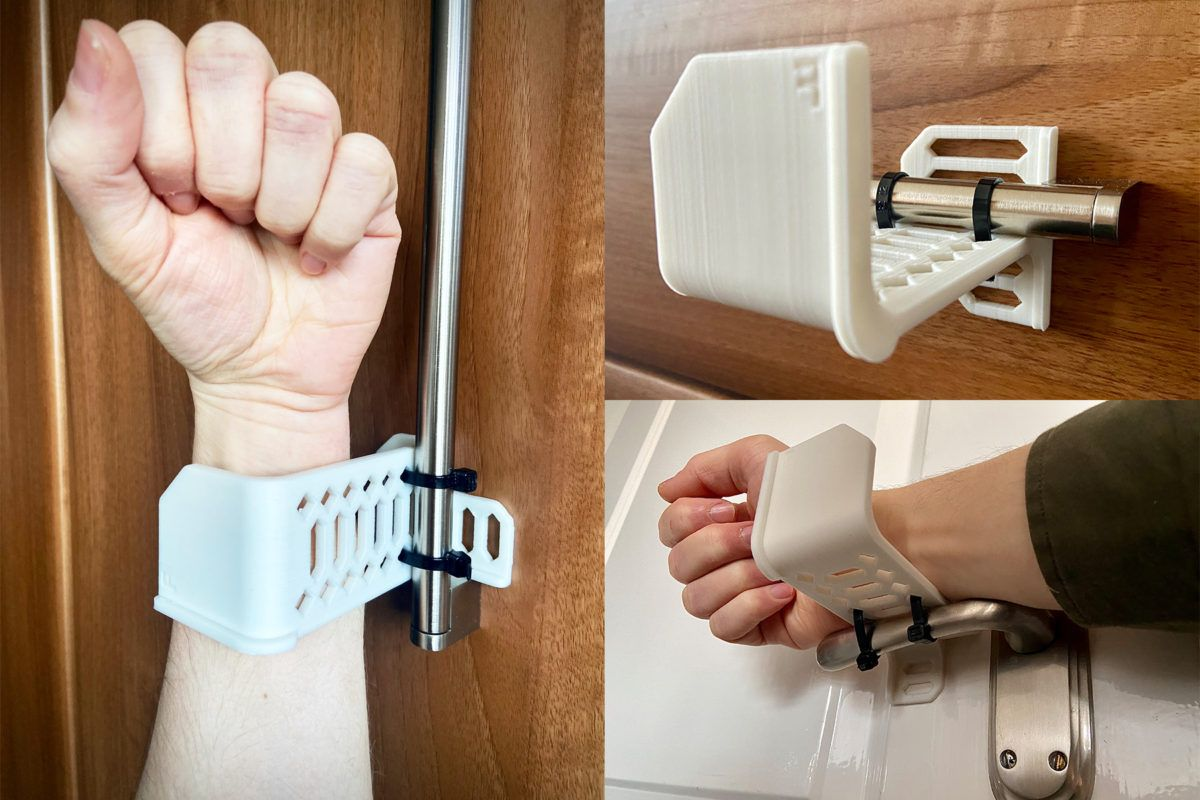 armie - a 3d printed hands-free handle design by print city